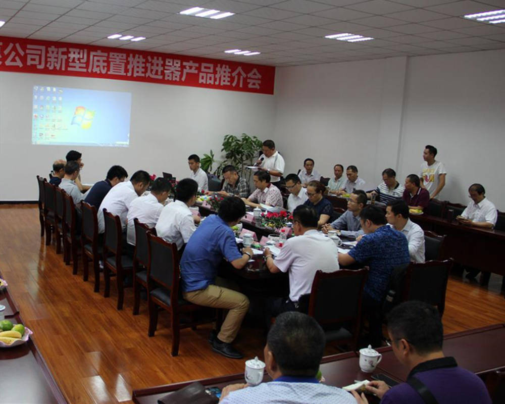 Our company successfully held the new product promotion meeting