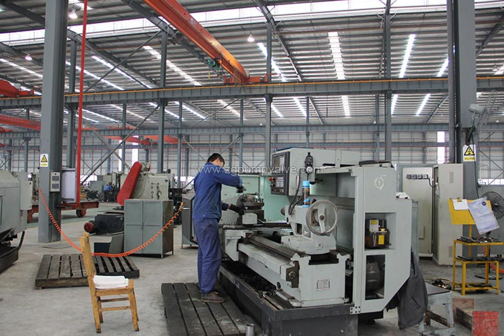The company has high-precision, full-featured machine tools for turning, milling, planing, drilling, boring, inserting, grinding, etc., to satisfy the processing requirements of various pump parts, and strictly implement the cold working process regulations.