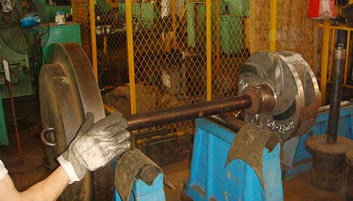 Impeller dynamic and static balance test