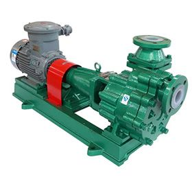 PTFE/PFA lined self-priming pump