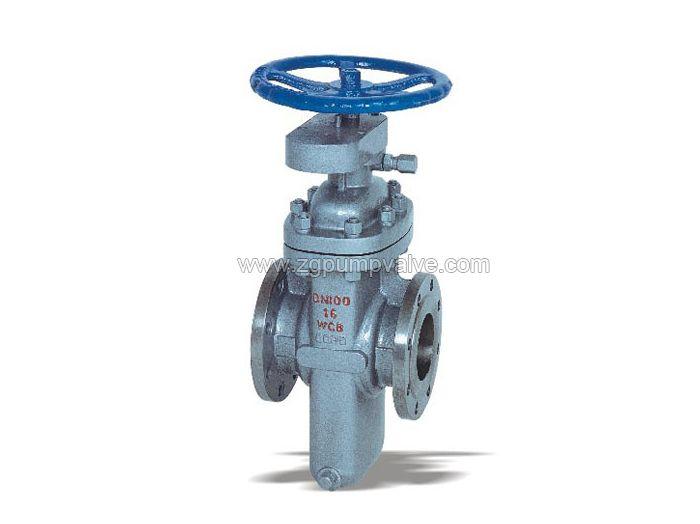 Flat gate valve