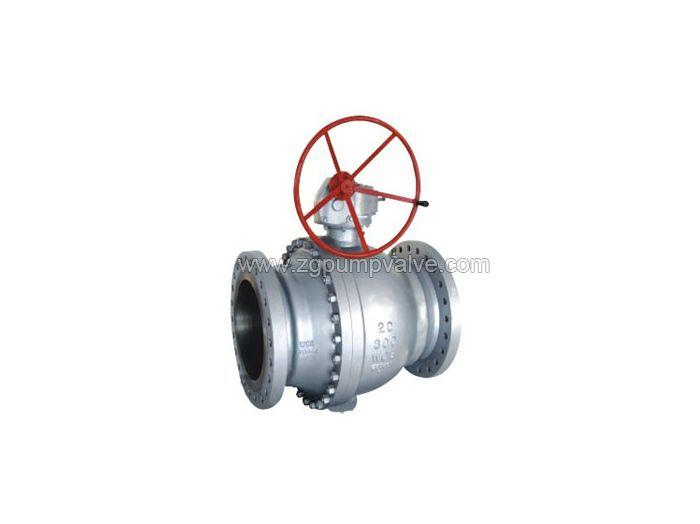 Cast steel fixed ball valve