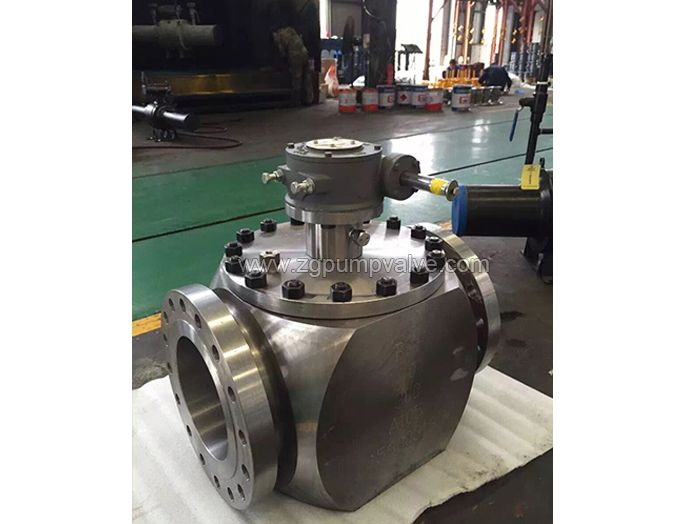 Top mounted ball valve
