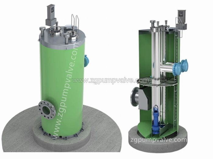 Sewage water lifting pumping station