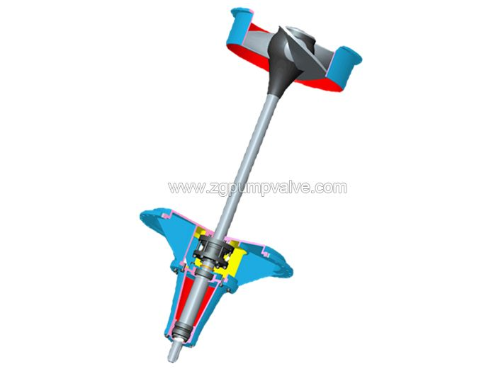 Bottom entry chemical agitator/propeller
