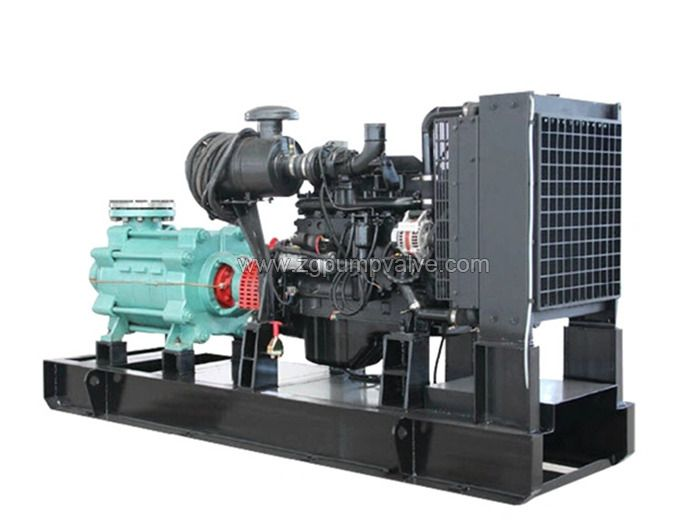 Diesel multi-stage fire-fighting pump