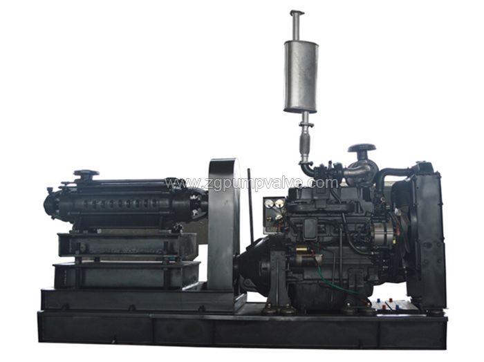 Diesel multi-stage fire-fighting pump