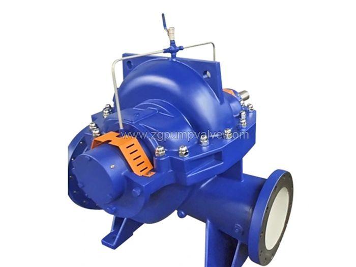 Split volute casing double suction pump