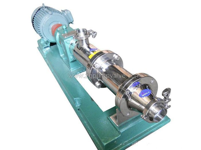 Sanitary screw pump