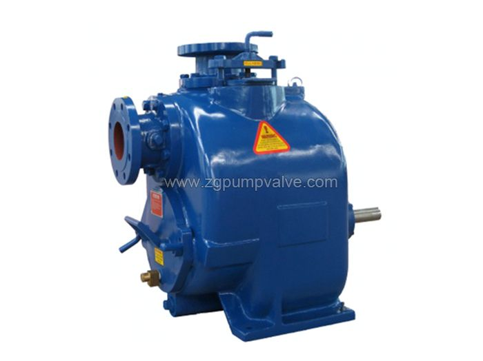 Non-clogging self-priming sewage pump
