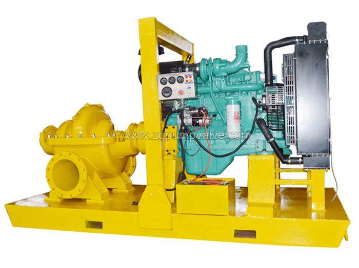 Diesel engine double suction pump