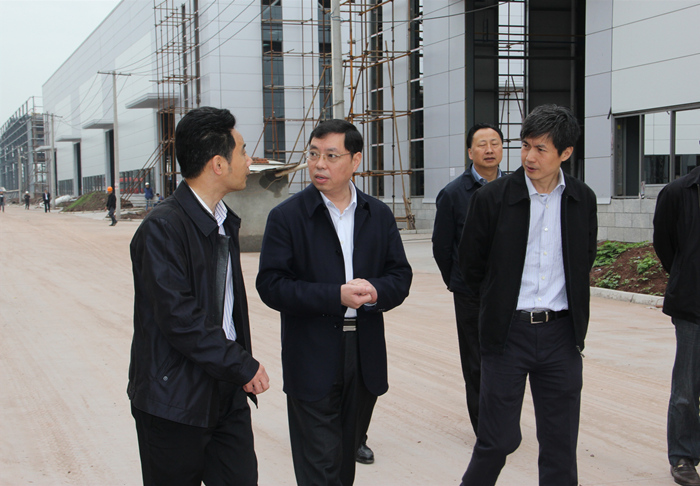 Mayor of Zigong City inspecting in our new factory