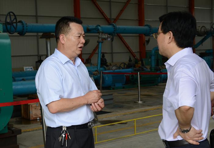 Visit of Zigong City Tech. Bureau director