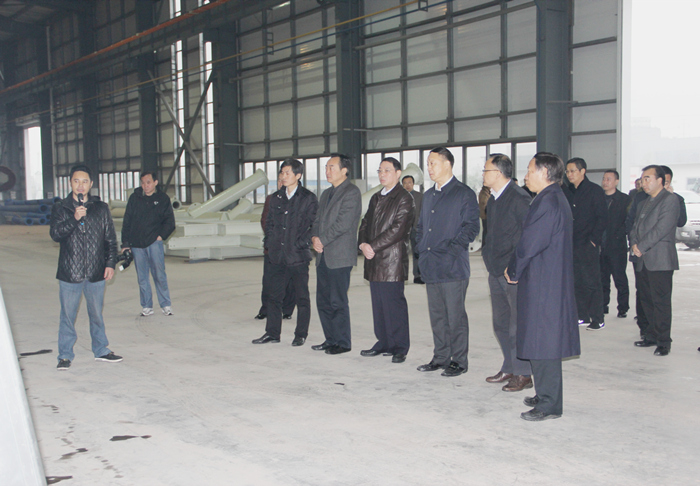 Visit of leaders of Zigong City Municipal Committee