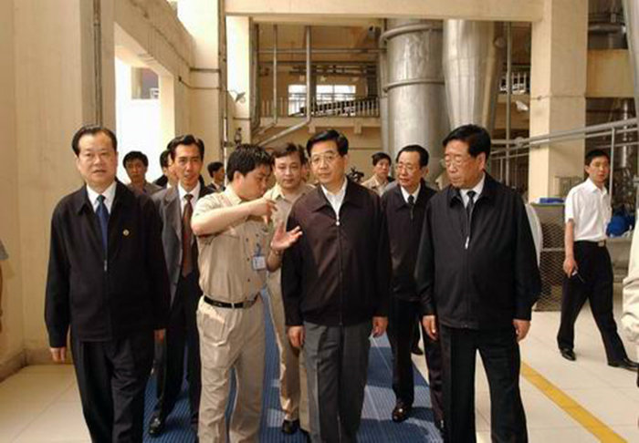 China President Mr. Hu Jintao inspecting our products