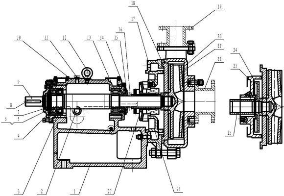 ZD single-layer casing slurry pump
