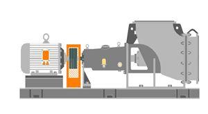 Horizontal chemical axial flow pump